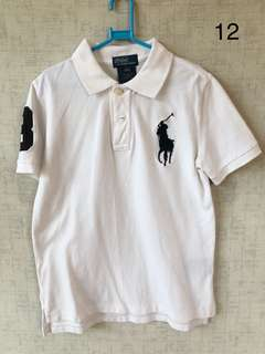 RL white polo shirt
