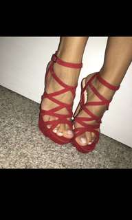 Women's Red shoes size 7