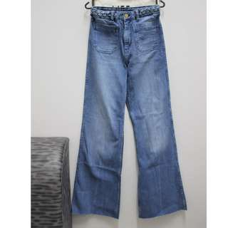 H&M high rise flare jeans