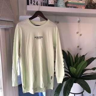 mint green long sleeve