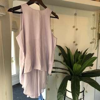 seed // 100% silk lavender top