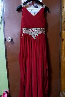 Gown For Rent ( Red Goddess Gown )