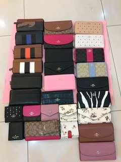 Original coach women wallet purse pouch coin Kate Spade Micheal Kors Tory Burch guess