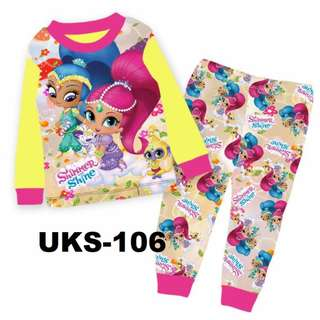Shimmer & Shine Yellow Long Sleeve Pyjamas For (2 Yrs To 7 Yrs)
