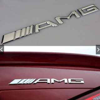 Emblem Car Badge Logo AMG Mercedes Bens Auto Decal Trunk Vehicles emblem