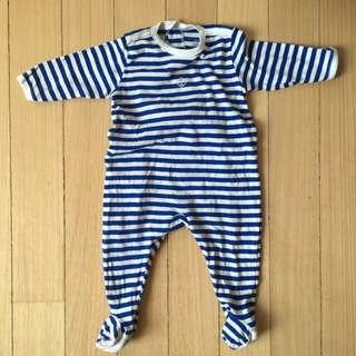 Petit Bateau Baby sleepsuit, romper