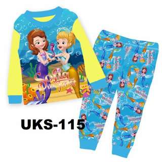 Sofia Long Sleeve Pyjamas For (2 Yrs To 7 Yrs)