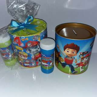 Customised Paw Patrol Savings Bank Goodie Pack