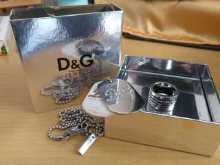 Dolce & Gabbana D&G necklace ring 頸鍊 戒指