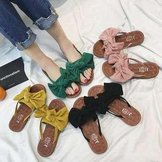 🌹預購🌹甜美蝴蝶夾腳拖鞋