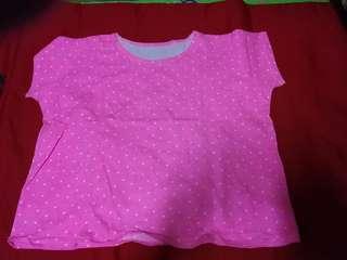 Polka dot Crop top -pink