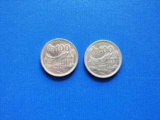 Old Coins Indonesia 100 Rupiah 1973
