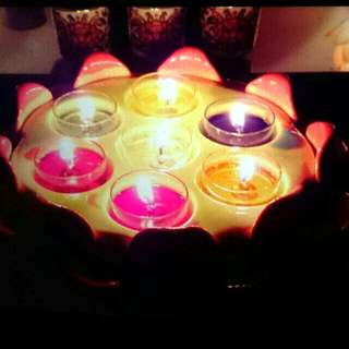 "Lotus Candle Holder 9"""