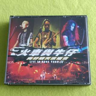 火車與牛仔 POWER STATION. live in hong kong 1998. 2 cd not vinyl record