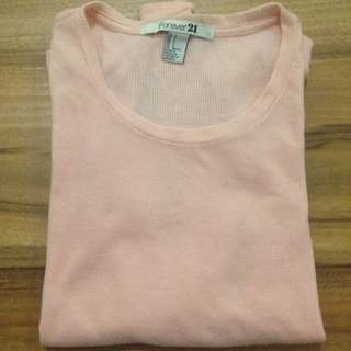 O-Neck Forever 21 Pink Sweater