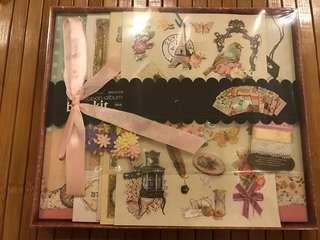 "8"" x 8"" Classic Retro Vintage Scrapbook album DIY kit (various designs as shown in pictures)"