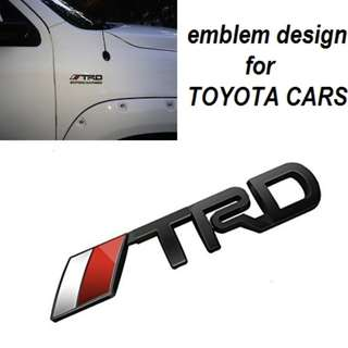 3D Toyota Racing Development TRD Body Side Emblem Sticker Decal Badge Logo