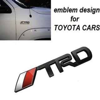 3D Toyota Racing Development TRD Body Side Emblem Sticker Decal Badge Logo