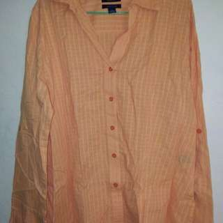 Orange Button Down Shirt