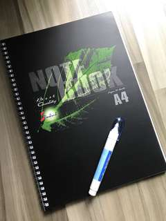 1 FREE correction pen with A4 Ring notebook (all Brand new)