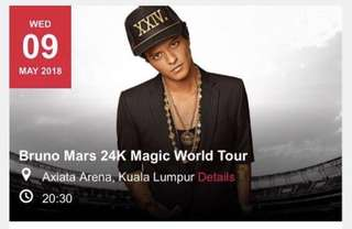 Bruno Mars 24k Magic Concert