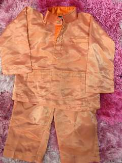 Baju Melayu baby 6-18m