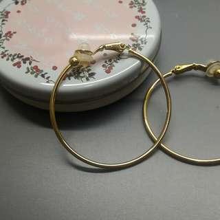 耳夾式大圈耳環#五十元好物