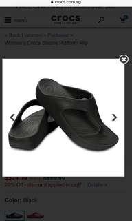 Now $25 nett! BNWT Crocs Solane Platform Flip