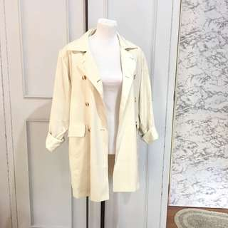 Oversized Double Breatsed Coat fits up to XL