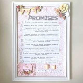 Wedding vows promises scrapbook