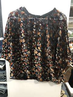 Mango Floral Blouse - Preloved, Average Condition