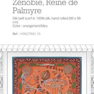 """Hermes """"Zenobie Reine de Palmyre"""" Silk Twill Scarf 90cm"""