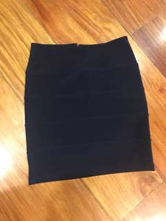 Topshop bandage skirt (Navy Blue)