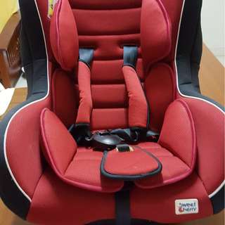 sweet cherry car seat for toddler til 18kg