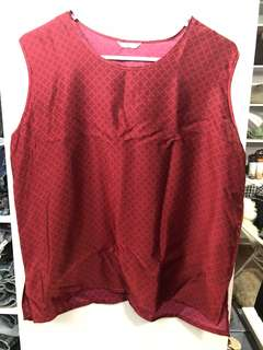 Red Sleeveless Top - Preloved, Excellent Condition