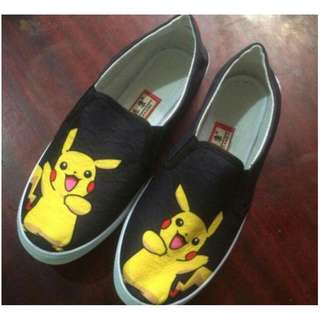 Pikachu Low Cut slip on sneakers KoreanFashion shoes Lace Up