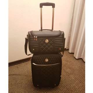 CUTE & ADORABLE CABIN LUGGAGE + SMALL CARRIER BAG