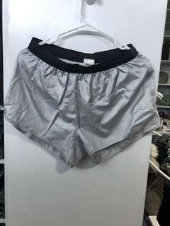 H&M Metallic Sport Shorts - Preloved, Excellent Condition