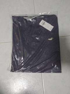 Hollister Navy Crewneck T-Shirt