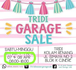 Garagetwitsale on tridi garagesale