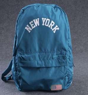 STUSSY NEW YORK USA BACKPACK  雙肩背包 #藍