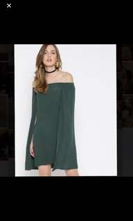 BNWT Forever 21 Off-shoulder Cape Dress