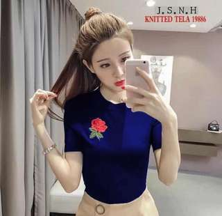 Semi-knitted blouse