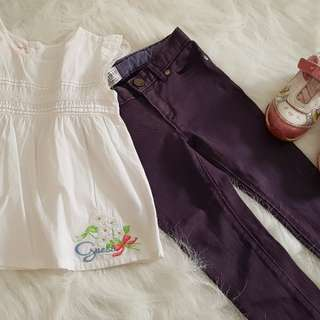 Preloved baby girl clothes set