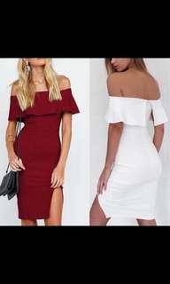 OffShoulder Slit Dress