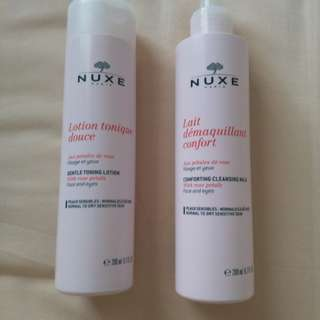 Nuxe cleansing milk & toning lotion