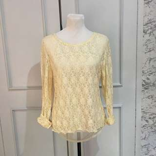 Cream Lace Pullovers fits up to Semi L