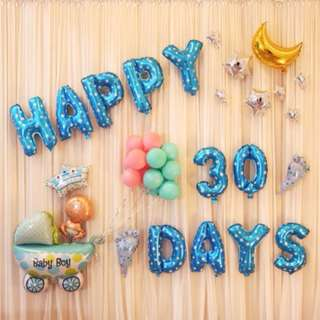 (In stock) Baby Boy Full Month Party Decoration Set-baby 30 days