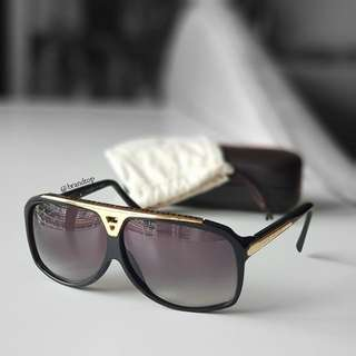 Authentic Louis Vuittton Evidence Sunglasses Z0350W LV