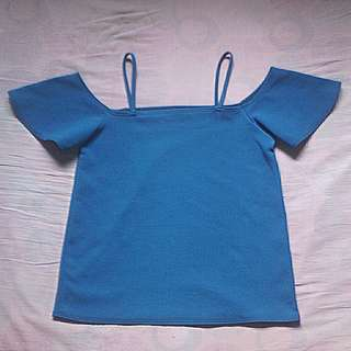 Off shoulder (blue green)